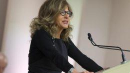 Emma Marcegaglia alla Luiss per il conferimento della laurea Honoris causa al Premio Nobel Jean Tirole, 19 marzo 2015 a Roma.  ANSA/MASSIMO PERCOSSI