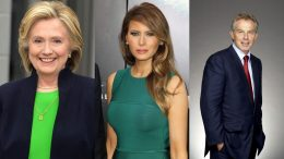 Hillary Clinton-Melany Trump-Tony Blair