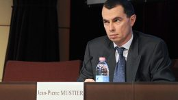 Jean-Pierre Mustier, CEO of Societe Generale Corporate and Investment Banking attends a press conference, 24 January 2008 in La Defense outside Paris. Trading in shares of Societe Generale was supended, 24 January 2008, after the French banking giant announced a sole trader was responsible for racking up 4.9 billion euros (7.15 billion dollars) in losses. Euronext, the operator of the Paris Bourse, told AFP it was not sure when trading would be allowed to resume in shares of Societe Generale, which closed just over four percent lower on Wednesday at 79.08 euros a share AFP PHOTO MARTIN BUREAU (Photo credit should read MARTIN BUREAU/AFP/Getty Images)