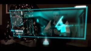 Schermo tv olografico
