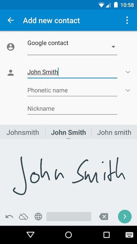 Google: con un'app si scrive a mano libera sullo smartphone