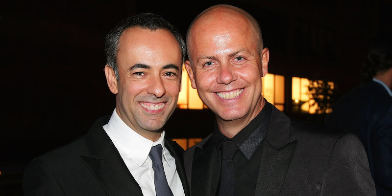 Francisco Costa e Italo Zucchelli (Andrew H. Walker/Getty Images)