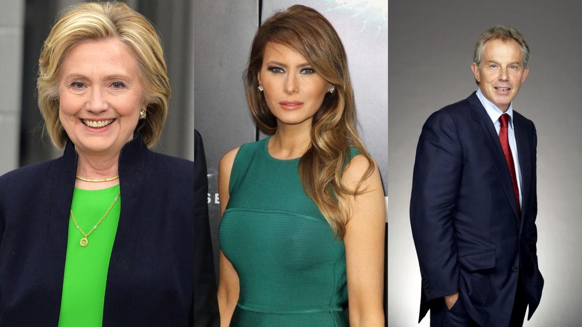 Hillary Clinton-Melany Trump-Tony Blair