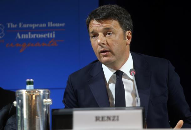 Italian prime minister Matteo Renzi at Ambrosetti workshop